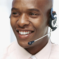 Picture of a customer service representative.
