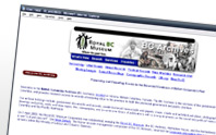 Image of the BC Archives website.